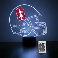 Stanford Cardinal Personalized Night Light Lamp NCAA College Football Gift LED