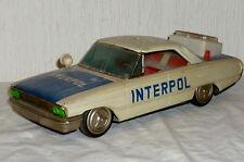 Altes Blechspielzeug Auto Polizei Interpol Blechauto 34cm Polizeiauto car Japan