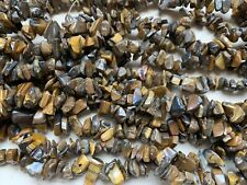 "34"" Tiger's Eye Medium Gemstone CHIPS 5-9mm, 34"" Strand"