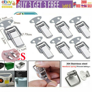 1-50PCSpring Loaded Latches Toggle Catch Clamp Stainless Steel Clips For Cabinet