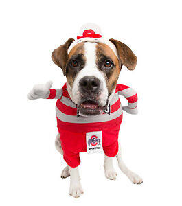 Ohio State Buckeyes Brutus Mascot Pet Dog Cat Jersey Shirt Clothes Costume