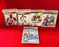 PS3 Sports Lot (Madden 12 & 13, NBA 2K 7 & 8, Sports Champions) *CIB *TESTED
