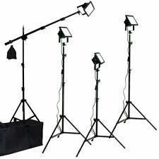Led Photo Studio Video 4 Light Kit Boom All Metal Body Photography Photo Studio