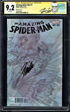 AMAZING SPIDER-MAN #1 CGC 9.2 SS STAN LEE ROSS SKETCH COVER EDITION #1227829006