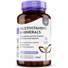 Multivitaminas y Minerales A-Z para hombres y mujeres 365 comprimidos Vegano - 100% NRV una al día