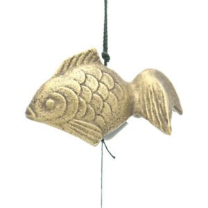 Japanese FURIN Wind Chimes KINGYO Gold-fish Cast Iron/Made in Japan