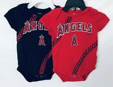 Set Of 2 Los Angeles Angels 3-6 Months Jumpsuit In Red And Navy Blue