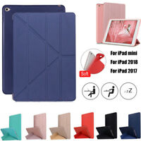 "New Smart Case PU Leather Back Magnetic Ultra Slim Cover for iPad 9.7"" 2018/2017"