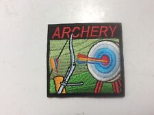 Girl/Boy Scout/Guides Patch/Crest/Badge Iron-on ARCHERY (1 patch)