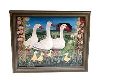 Family Of Geese 1994 Kate Collins Signed Art Print Litho In USA