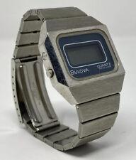 Rare Vintage 1970s Bulova 8013 LCD Swiss Made Quartz Digital Wrist Watch