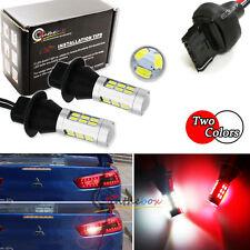 2pcs Red/White LED Rear Fog/Reverse Light Conversion Kit Universal