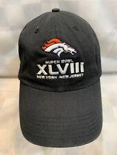 Denver BRONCOS Super Bowl New York new Jersey Adjustable Adult Ball Cap Hat