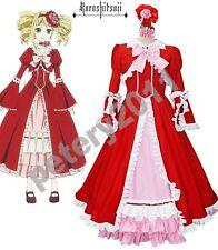 Black Butler Elizabeth Midford Liz Cosplay Costume Long Dress Custom-made
