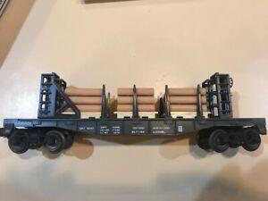 Lionel # 6-16347 Ontario Northland Bulkhead Flatcar with Pulp Load MIB 1992 NR !