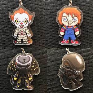 Horror Movie Keyring/Chain - Gift, Halloween, Pennywise, Chucky, Alien, Predator