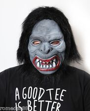 Hairy Black  Ape Halloween Funny Scary Costume Mask