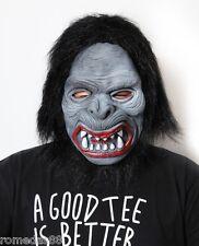Hairy Black  Ape Halloween Funny Scary Costume Mask