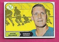 1968-69 TOPPS # 47 NORTH STARS WAYNE HILLMAN VG  CARD  (INV# C4140)