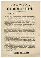 Proclami Re Vittorio Emanuele II 1859 Guerra d'Indipendenza Risorgimento Biella