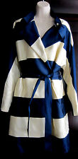 Karen Millen The Atelier Trench Coat New Stripe US sz.10 /sz.L UK sz.14 NWT$1400