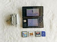 Nintendo 3DS Console Black System Bundle W/ Charger + 2GB SD Card + Games