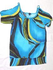 WOMENS short sleeve SHIRT = DIVA BLUE = SIZE 2X = cs34