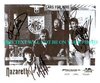 NAZARETH BAND SIGNED AUTOGRAPH 8X10 RPT PROMOTIONAL PHOTO