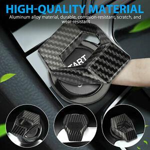 Universal Carbon Fiber Look Car Engine Start Stop Push Button Switch Cover Trim