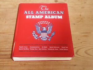The All American Stamp Album Commemorative Collection 1893 -1988 1,259 stamps.