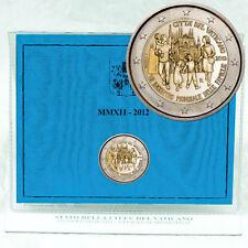 "2 euros conmemorativa moneda coin vaticano benedicto ""VII. mundo reuniones familiares"" 2012"