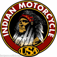 "Indian Motorcycle 3"" Round Decal Northwestern Gumball"