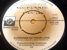 "ROSETTA STONE - SUNSHINE OF YOUR LOVE     7"" VINYL"