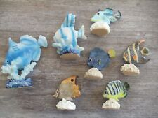 Lot of Seven Tropical Fish Figurines