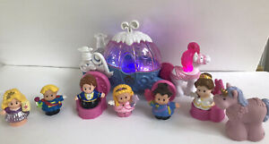 Disney Princess Little People Coach Carriage Prince Charming Musical & 9 Figures