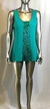 NWT Women's Blouse Anthony Mark Hankins with sequence col teal size small
