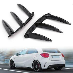 Pair Rear Lip Bumper Canards Vents Fit Mercedes Benz W176 A200 A250 A45 AMG TN