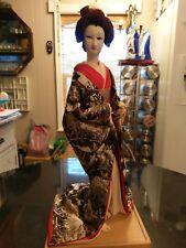 Stunning Antique Asian Silk Kimono Geisha Doll