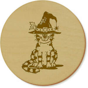 'Cat Wearing Witch's Hat' Coaster Sets / Placemats (CR030184)