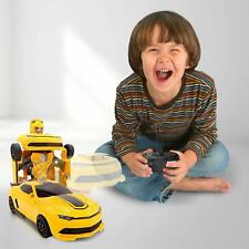 Kids RC Toy Car Transformer Robot Rechargeable Large Bumble Bee  Xmas Gift!