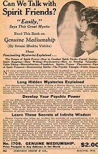 1929 small Print Ad of Genuine Mediumship Great Mystic Swami Bhakta Vishita
