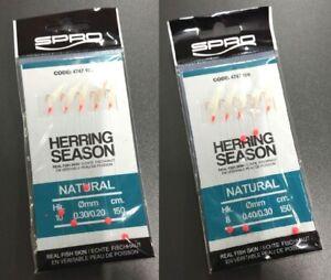 Spro Herring Heringsvorfach Natural Heringspaternoster Echte Fischhaut Vorfach
