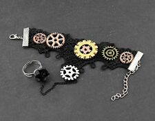Steampunk Lace Gears Cuff Bracelt Cosplay For Womens or Girls