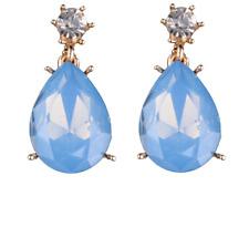 Drop earrings - New Elegant chic blue stone water drop earrings