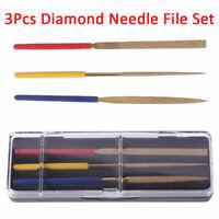 3 stücke /Set Diamant Nadel Datei Set Handwerkzeug Holzschnitzerei Stein Neu