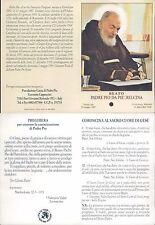 R@RO SANTINO DI PADRE PIO CON RELIQUIA DI UN PEZZO DI STOFFA , ORIGINALE N.7