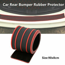 1PC Car Rear Bumper Sill/Protector Rubber Cover Guard Pad Moulding Trim Red&Blak