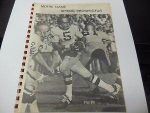 1968 NOTRE DAME NCAA FOOTBALL YEARBOOK NOTRE DAME STADIUM RARE SPRING PROSPECTUS