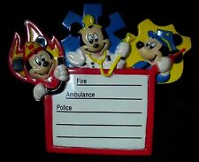 Disney Mickey Mouse Emergency Numbers Refrigerator Magnet 1995 Vintage Fridge