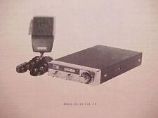 1977 PEARCE-SIMPSON CB RADIO SERVICE SHOP MANUAL MODEL ALLEY CAT 23